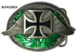 German Cross & Wings Belt Buckle + display stand. Product Code: CC2